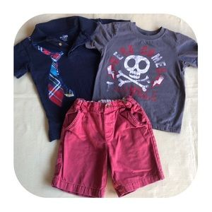 Children's Place 2 shirts & shorts boys 3T